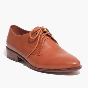 Madewell Jess Oxford Shoe English Saddle 7.5 NEW